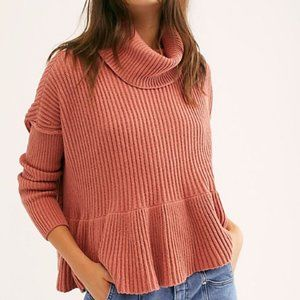 Free People Layer Cake Sweater Rose Turtleneck